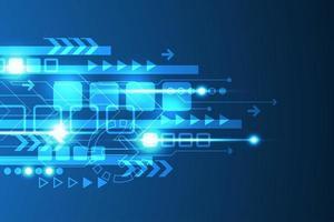 Rougeoyantes flèches tech abstrait bleu et conception de la ligne vecteur