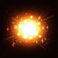 Concept d'explosion de lumière tech incandescent vecteur