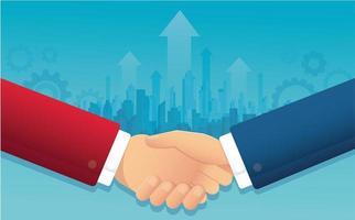 négociation d'affaires avec le paysage urbain