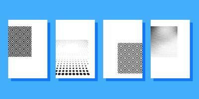 Modèle de brochures de couvertures de demi-teintes