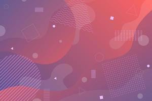 Fond de formes abstraites fluide dégradé violet rouge