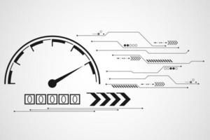 Concept de compteur de vitesse numérique minimaliste vecteur