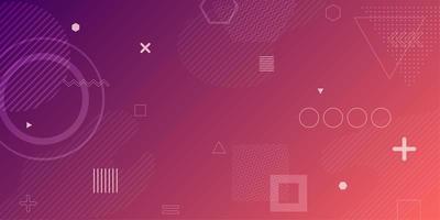 Fond abstrait géométrique dégradé violet rose vecteur