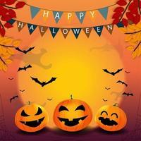 Fond d'halloween heureux vecteur