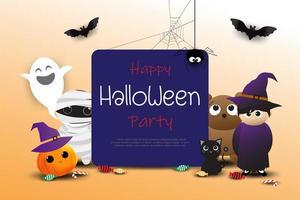 Invitation heureuse de fête d'halloween vecteur