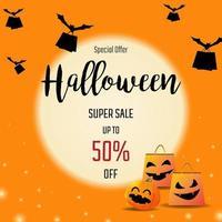Bannières de vente Halloween vecteur