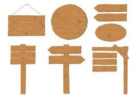 Collection de panneaux en bois vecteur