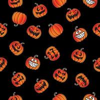 Amusant Halloween Jackolantern Seamless Pattern rétro