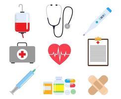 Collection d'éléments médicaux vecteur