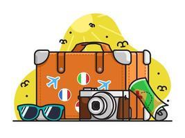 Illustration de la journée mondiale du tourisme vecteur