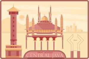 Grande mosquée du centre de Java vecteur