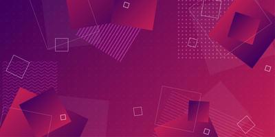 Fond dégradé rouge violet foncé avec des formes géométriques qui se chevauchent vecteur