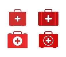 Ensemble d'icônes de valise médicale