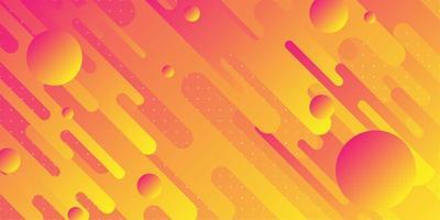 Formes futuristes rouge vif orange et jaune qui se chevauchent vecteur