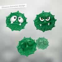 Ensemble de personnages de dessins animés de germe ou de terre vecteur