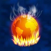 Concept de réchauffement climatique vecteur