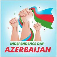 Azerbaïdjan fête de l'indépendance fond vecteur EPS10