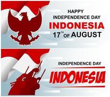 Fête de l'indépendance Indonésie fond de bannière vecteur