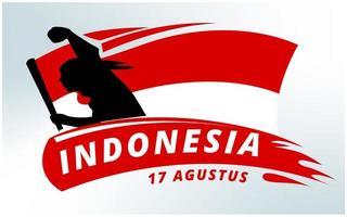 Fond d'Indépendance de l'Indonésie vecteur