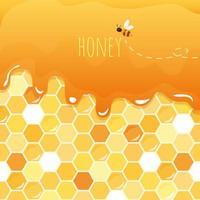 Fond brillant de miel doux avec espace de copie