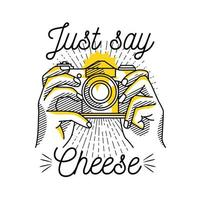 il suffit de dire l'illustration de la caméra de fromage