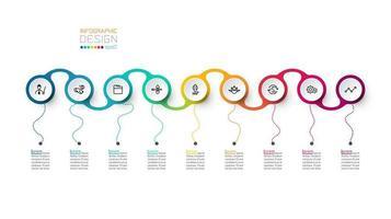 Cercle étiquette infographique vectoriel. vecteur