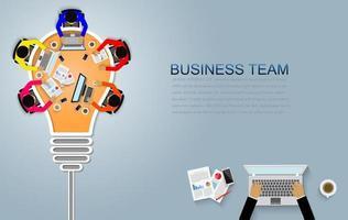 Concept de réunion d'affaires vecteur