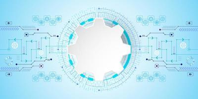 Technologie de fond abstrait Vector