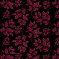 Motif floral rouge