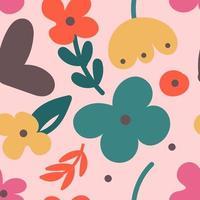 Motif abstrait fleur coloré avec des formes modernes