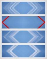 Ensemble coloré de quatre lignes vecteur