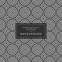 Motif abstrait de cercles concentriques noir et blanc