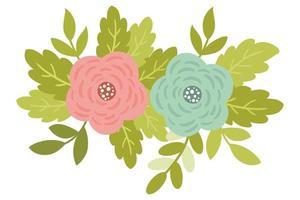 Fleurs mignons de printemps avec des roses et des branches antiques