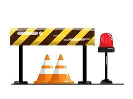 Route et barrière de rue