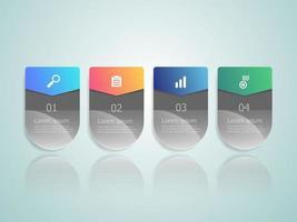 infographie horizontale 4 étapes vecteur
