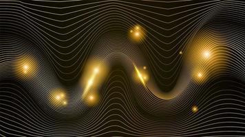 illustration abstraite ligne dorée vecteur