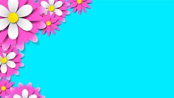 fleurs avec ombre réaliste pour bannière ou promotions vecteur