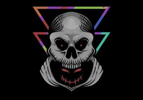 Illustration de crâne maléfique caché