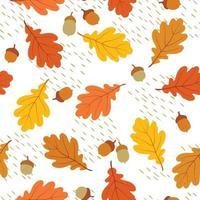 Feuilles d'automne modèle sans couture vecteur