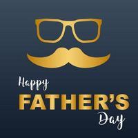 Visage de hipster fête des pères heureux