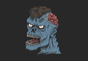 illustration tête zombie