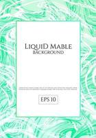 Fond de marbre liquide vert vecteur
