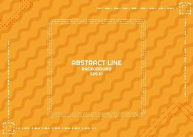Conception de lignes pointillées abstrait jaune vecteur