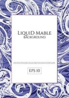 Fond de marbre liquide bleu violet vecteur