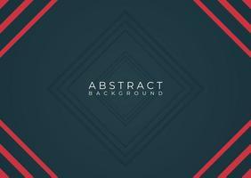 Cadre minimaliste abstrait rouge et noir moderne vecteur