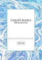 Fond de marbre liquide bleu vecteur