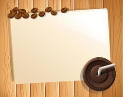 Bannière et café vecteur