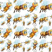 Petites abeilles sans couture volant vecteur