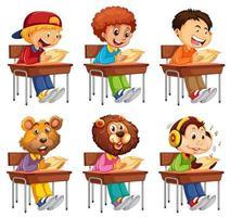 Ensemble d'étudiant prenant l'examen