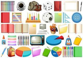 Ensemble d'objets différents vecteur